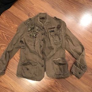 Brown military style jacket